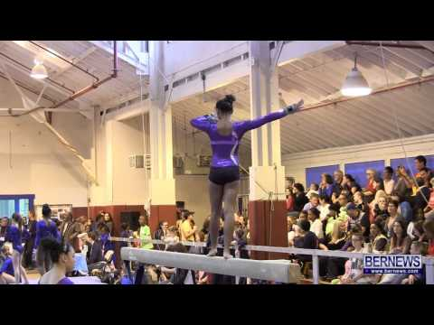 Beam Routines At International Gymnastics Meet Jan 12 2013
