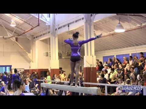 Beam Routines At International Gymnastics Meet Jan 12 2013