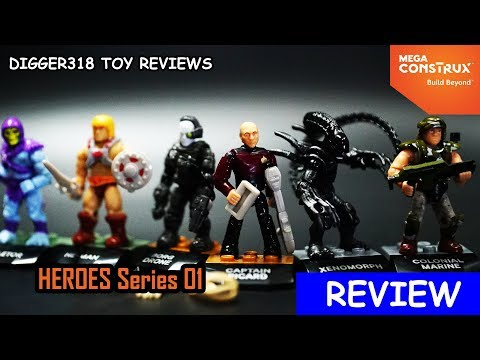 Mega Construx Heroes Series 1 Star Trek Aliens He man Review 4K