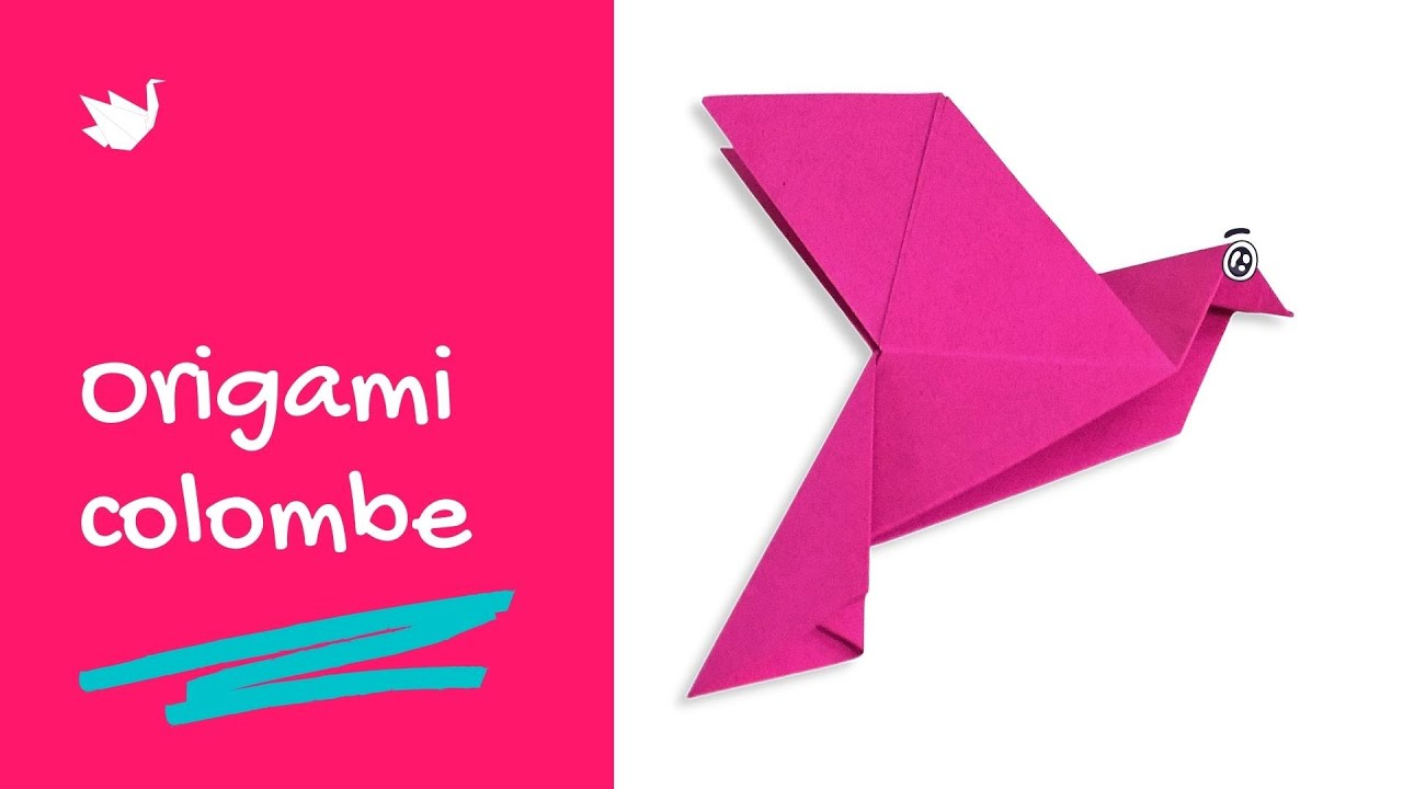 Comment faire une colombe en origami tutoriel youtube - Origami oiseau tuto ...
