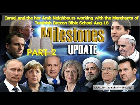 Milestones Bible Prophecy update For August 2018 Part 2
