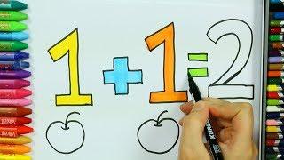 Как рисовать яблоко 🔟 | Яблочная раскраска | Раскраски | Как рисовать и цвет