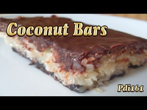 Chocolate Coconut Bars ~ Better Than Mounds Bars IMO