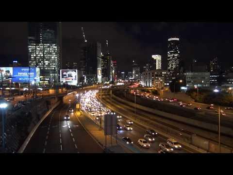 Израиль. По дороге домой. Вечерний Тель Авив. Night Tel Aviv. Israel.