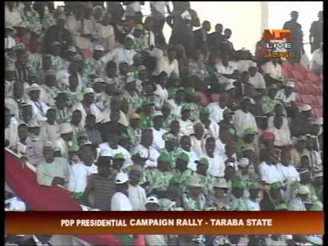 PDP Presidential Campaign Rally in Jalingo, Taraba State