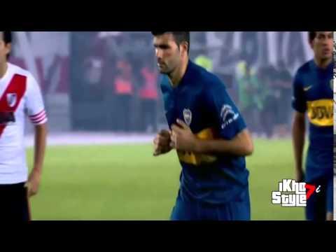 Penal atajado de Barovero a Gigliotti - River 1-0 Boca - Copa Sudamericana 2014 - Semifinal - Vuelta