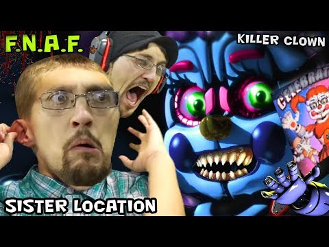 KILLER CLOWN JUMP SCARE in FIVE NIGHTS AT FREDDY'S 5 SISTER LOCATION (FGTEEV SCARY BABY Gameplay)