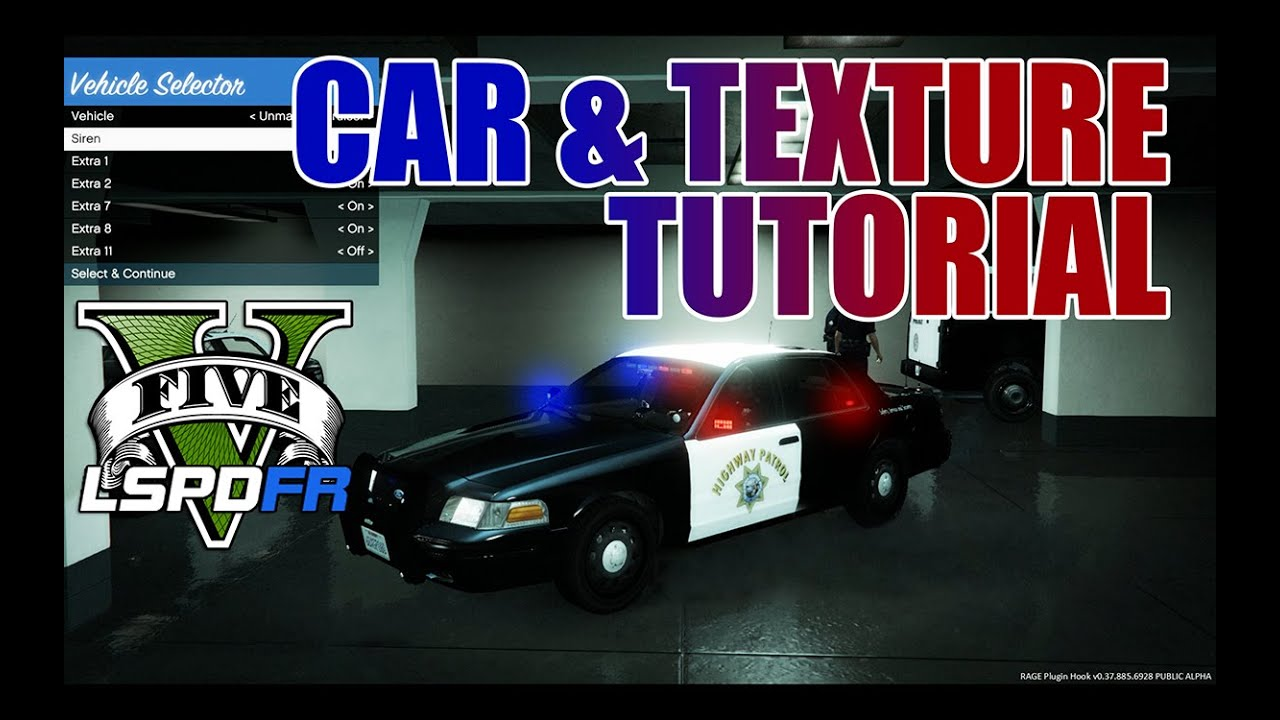 LSPDFR - GTA 5 - How-To Replace Cars & Textures