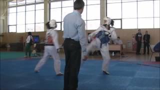 Taekwondo WTF. 29.03.2014. Турнир клуба Беркут. Евдокимова-Рудерман