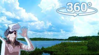 Панорамное Видео 360 VR 4K для очков виртуальной реальности. Лето, природа, свежий воздух...релакс