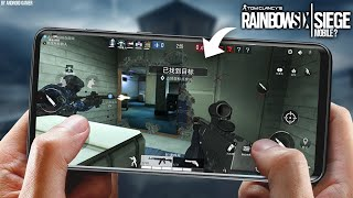 AGORA SIM! Nova CÓPIA do Rainbow Six para Android (Nova Beta) - Area F2