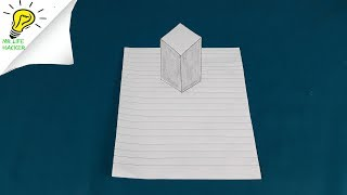 Floating Cube 3D Trick Art on Paper