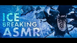 [ASMR] Breaking & Cracking the ICE of a Frozen Lake (Walking) - ICELAND NATURE