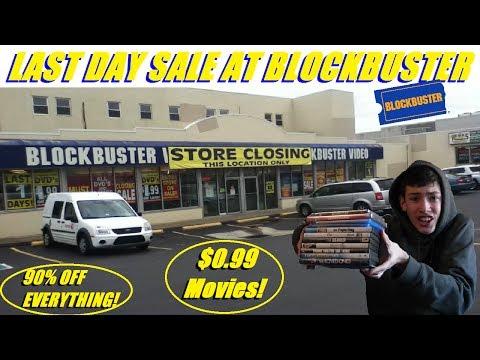LAST DAY SALE AT BLOCKBUSTER!!!