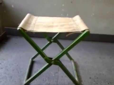Мой самодельный складной рыбацкий стул - YouTube