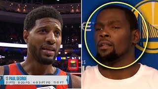 "Paul George Says ""Im BETTER Than Kevin Durant""  And Durant Reacts"
