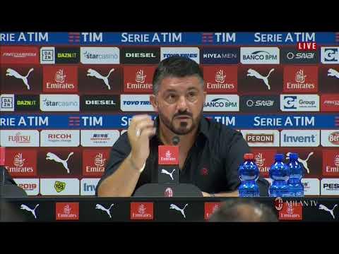 AC Milan - Conferenza stampa di Gattuso post Milan - Roma 2-1 31.08.2018