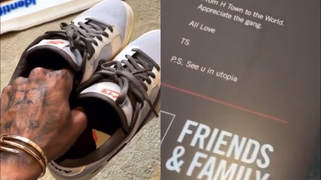 Chase B Shows Travis Scott x PlayStation x Nike Dunk Low Family & Friends 👀🌵