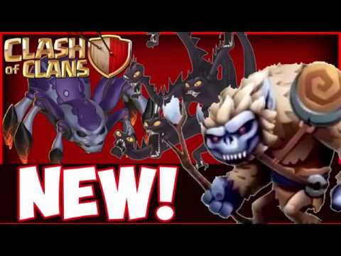 Clash Of Clans   NEW 2018 UPDATE Town Hall 12 Goblin Prince New Dark Troops 2017 Update Ideas