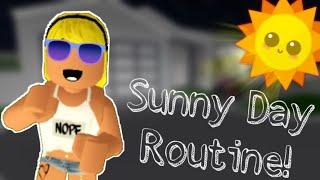 SUNNY DAY ROUTINE!! | Roblox Bloxburg| Cutsy88
