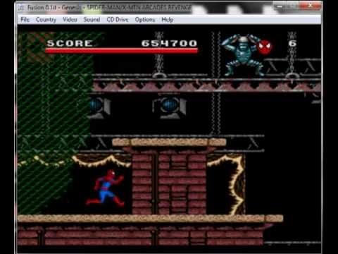 Spiderman And Xmen: Arcades Revenge - Mega Drive / Genesis Longplay