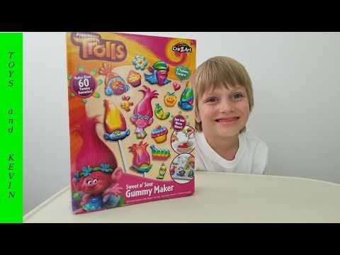 Делаем желейные конфеты ТРОЛЛИ Детские игры и видео для детей про игрушки ТРОЛЛИ 2016 Trolls 2016