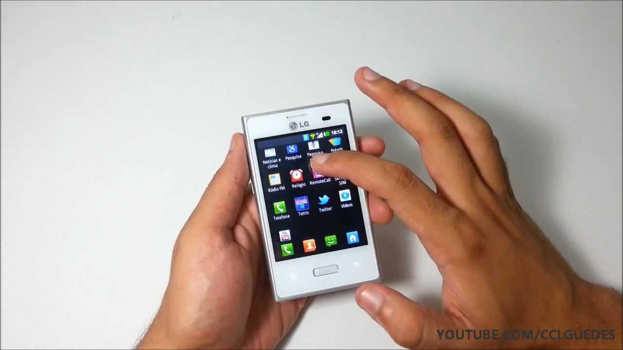 smartphone lg optimus l3 e400 youtube. Black Bedroom Furniture Sets. Home Design Ideas