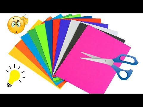 18 DIY Paper Craft Ideas Easy Colored Paper Craft Ideas