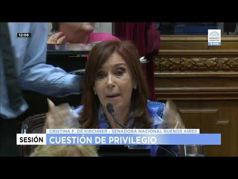 Cristina y su cruce con Michetti en el Senado
