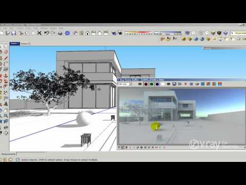 V ray for sketchup tutorials youtube - Revit exterior rendering settings ...