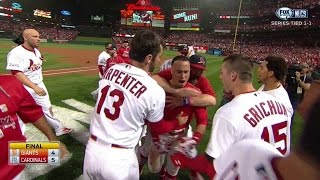 NLCS Gm2: Wong walks off Cards with home run in 9th