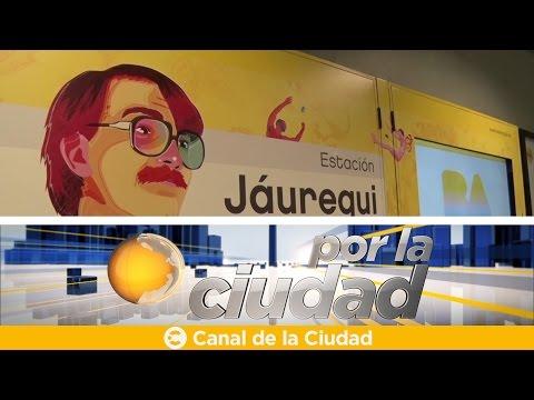 """<h3 class=""""list-group-item-title"""">Se inauguró la estación de subte Carlos Jáuregui - Por la ciudad</h3>"""
