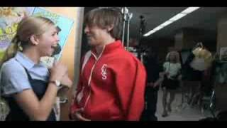 Hsm3 behind-the-scenes zac plays a prank with mannequin!