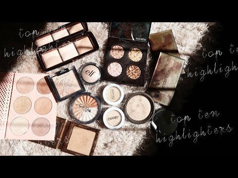 MY TOP 10 FAVOURITE  HIGHLIGHTERS thumbnail