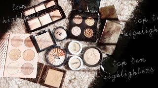 MY TOP 10 FAVOURITE  HIGHLIGHTERS