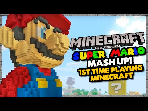 My FIRST TIME Playing Minecraft! GG, Nintendo || Minecraft - Super Mario Mash Up Pack