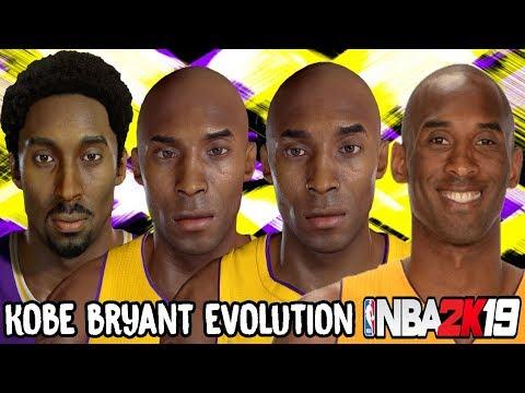Kobe Bryant Ratings and Face Evolution (NBA 2K - NBA 2K19)