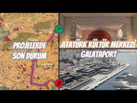 Galataport'tan Atatürk Kültür Merkezi'ne Beyoğlu Kültür Yolu Projesinin Son Durumu - Haziran 2021