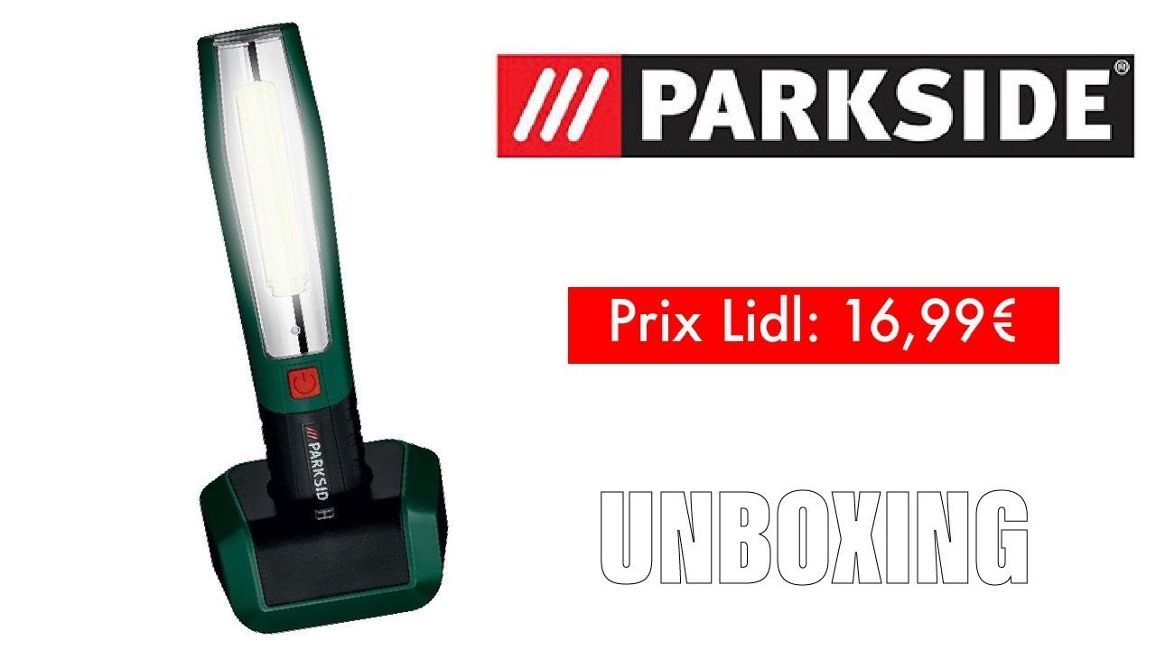 Parkside Ptll 1 A1 Baladeuse Rechargeable Youtube