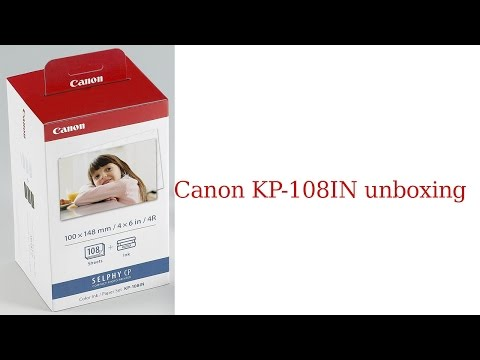 Canon KP-108IN unboxing