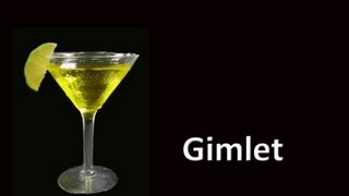 Vodka Gimlet Cocktail Drink Recipe