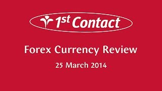 Currency Review Podcast for 25 March - 1st Contact Forex