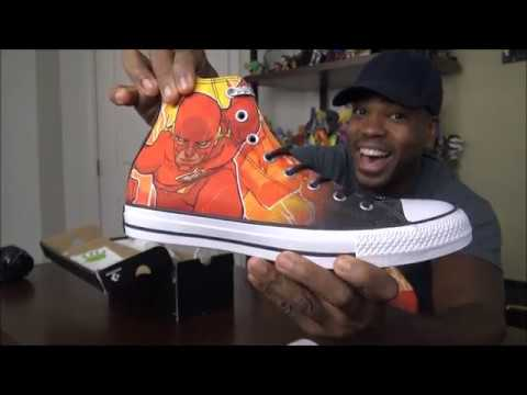 Converse Chuck Taylor All Star Hi DC Comics Flash Sneaker - UNBOXING ... 2deef9f03
