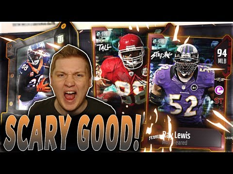 94 RAY LEWIS AND 94 TONY GONZALEZ! | MOST FEARED PACKS, ELITES, SETS, AND SOLOS | MUT 18 MOST FEARED