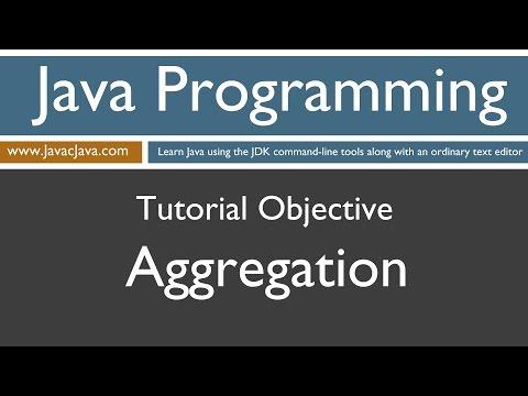 Learn Java Programming - Aggregation Tutorial