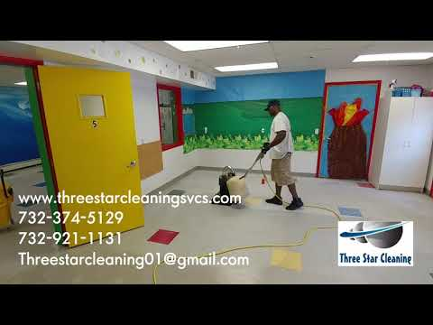 VCT TILE DRY STRIPPING AND REFINISHING