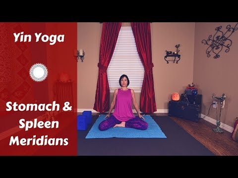 Yin Yoga for Stomach & Spleen Meridians {45 mins} | Hips, Chest, Legs | Reduce Bloating & Cramps