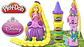 Play doh DISNEY Princess Rapunzel's GARDEN TOWER Mix n Match Playset | Sweet Treats Playdough