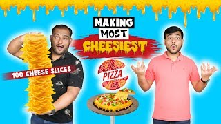 100 CHEESE SLICE PIZZA MAKING CHALLENGE | Pizza Challenge | Food Challenge | Viwa Food World
