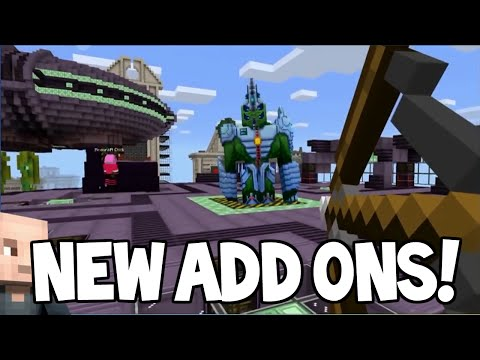 MCPE ADDONS!! - Minecraft Pocket Edition NEW Addons Feature Coming Soon (Minecraft PE)